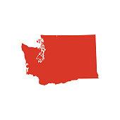 Washington state map silhouette