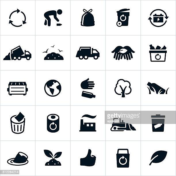 Waste Management and Recycling Icons
