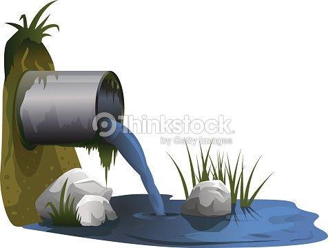 D charge pour lagunage des eaux us es clipart vectoriel - Lagunage des eaux usees ...