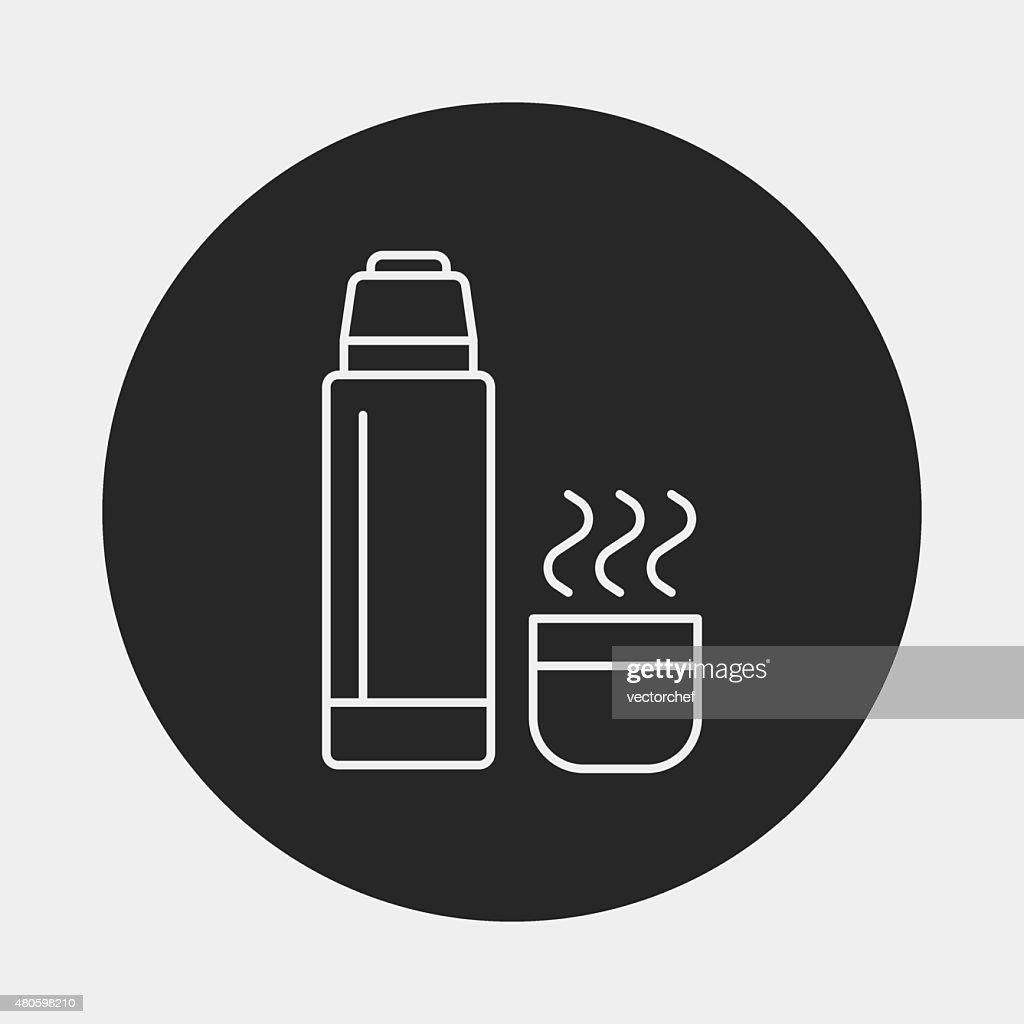 water bottle line icon : Vector Art