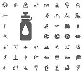 Water can icon. Sport illustration vector set icons. Set of 48 sport icons