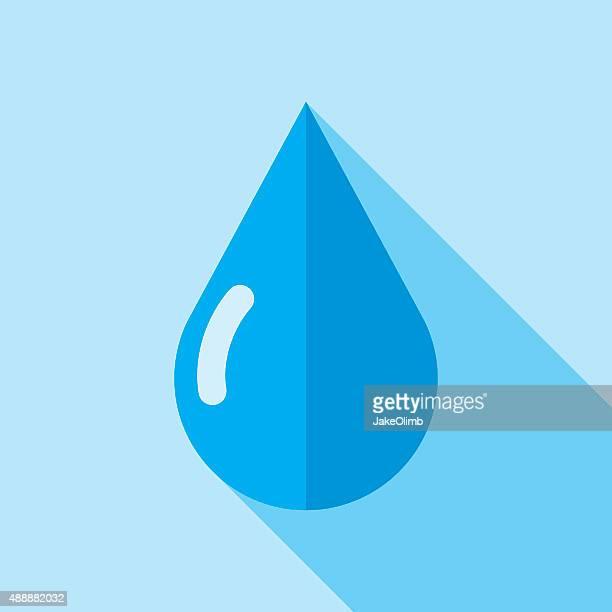 Water Drop Icon Flat
