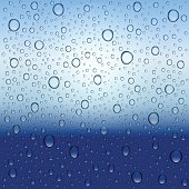 Water drops and rain. Vector realistic background.