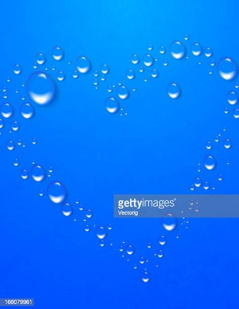 Water Drops in heart shape