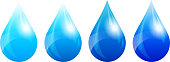 Four Color Versions; Water Drop