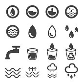 water icons set. vector illustration. nature design concept.