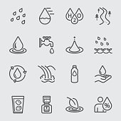 Water for life line icon