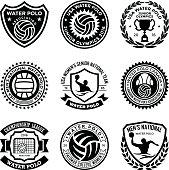 Set of sports glyh badges.
