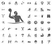 Water polo icon. Sport illustration vector set icons. Set of 48 sport icons