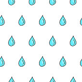 design of hand-drawn water droplets
