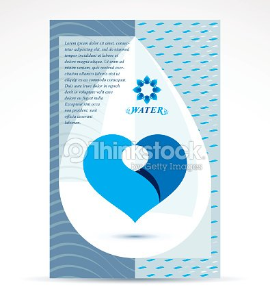 Water Treatment Company Advertising Flyer Pure Water Vector