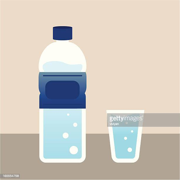 water with bottle