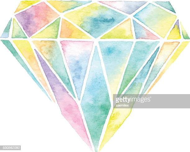 Watercolor Gemstone
