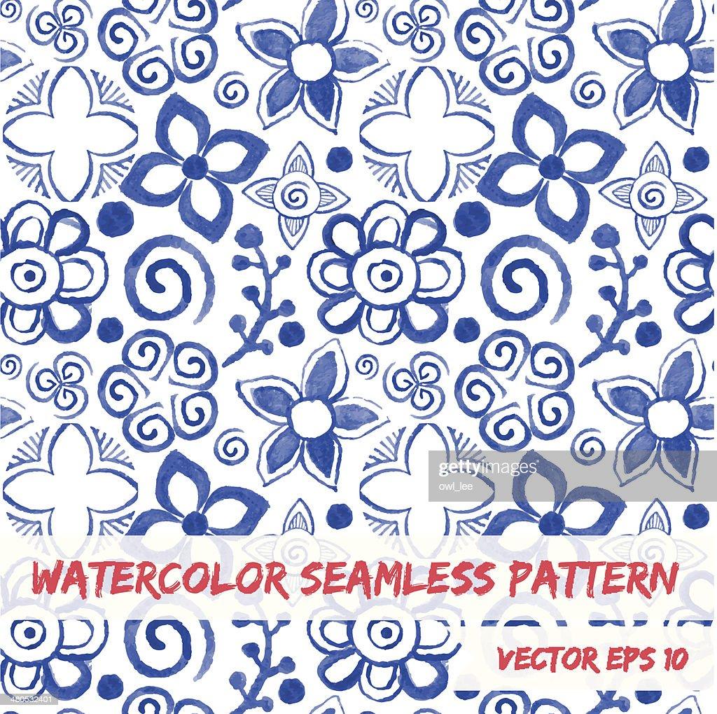 Watercolor seamless pattern. : Vektorgrafik