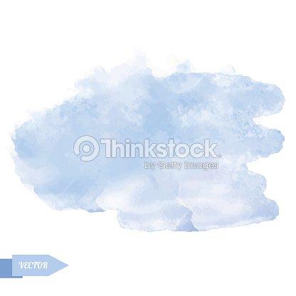 Watercolor Soft Blue Paint Stain Vector Art