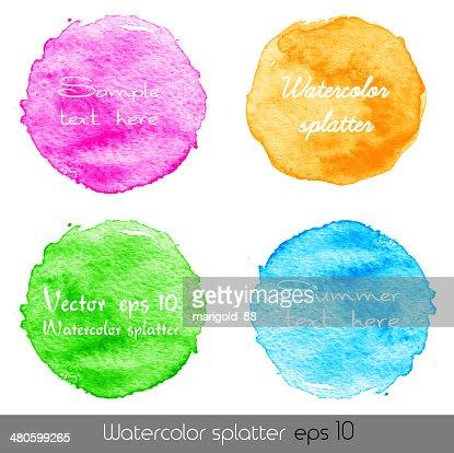 Watercolor splatters. Vector : Vector Art