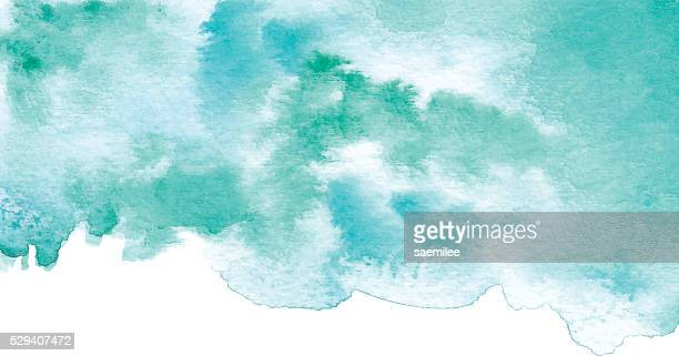 Watercolor Turquoise Background