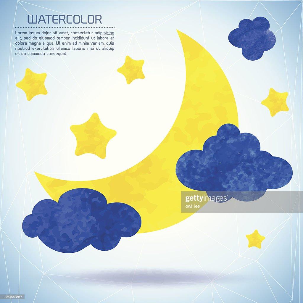 Watercolor weather background : Vektorgrafik