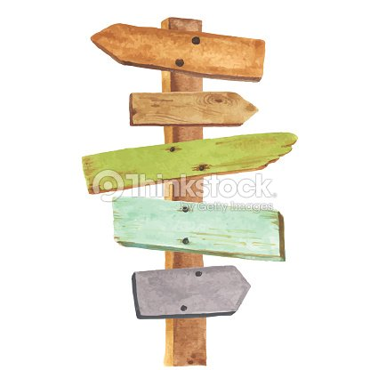 aquarelle panneau en bois clipart vectoriel thinkstock. Black Bedroom Furniture Sets. Home Design Ideas