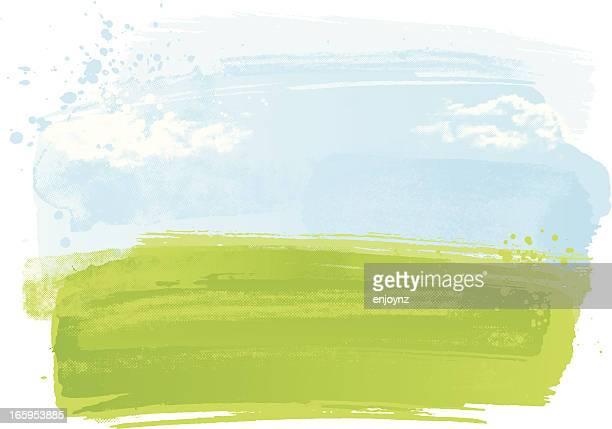 Watercolour Landschaft