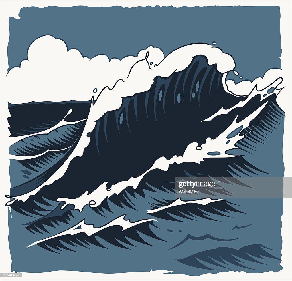Waves Background : Vector Art