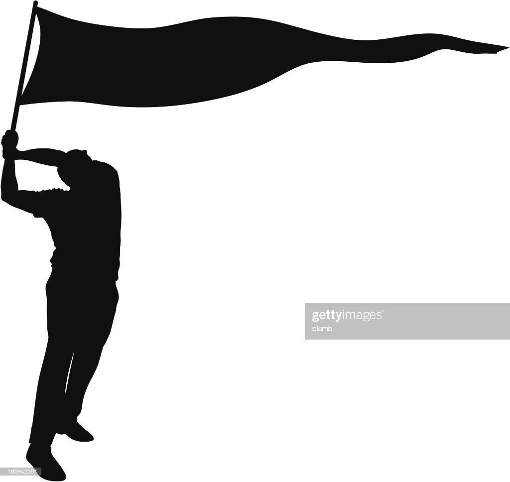 Waving Banner : Vector Art