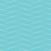 Abstract seamless pattern. White wave lines on blue background