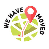 We have moved, changed address navigation, changed address navigation