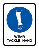 Wear Tackle Hand Symbol Sign, Vector Illustration, Isolate On White Background Label. EPS10