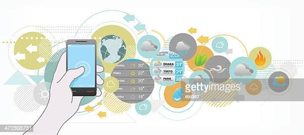 Wettervorhersage von mobile app.