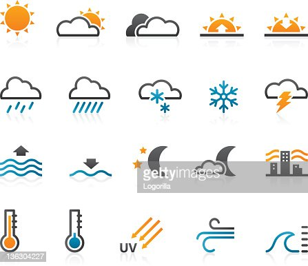 Weather icons - Set of 20 : Vectorkunst