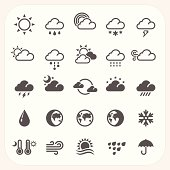 Weather icons set, EPS10, Don't use transparency.