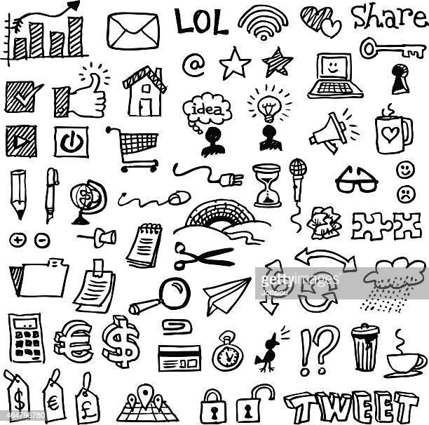 Web et crayonnages d'affaires