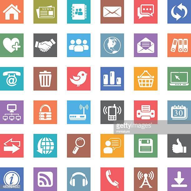 web and communication icons