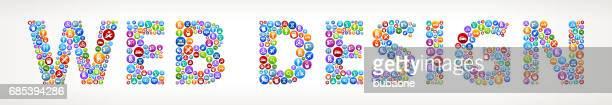 Web Design Future and Futuristic Technology Vector Buttons