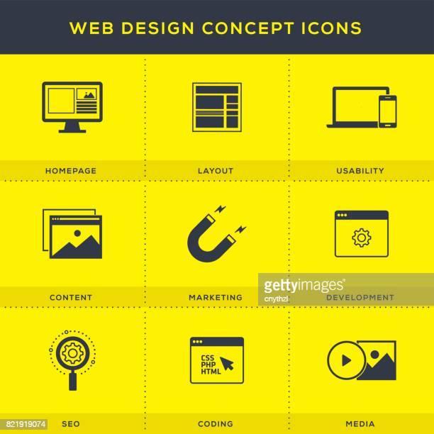 Web Design-Ikonen-Set
