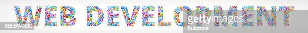 Web Development Future and Futuristic Technology Vector Buttons