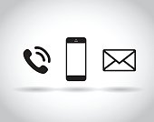 A web icon set on gray background