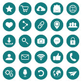 SOCIAL ICON. Web icons. Popular round social media icons. Simple set of vector icons