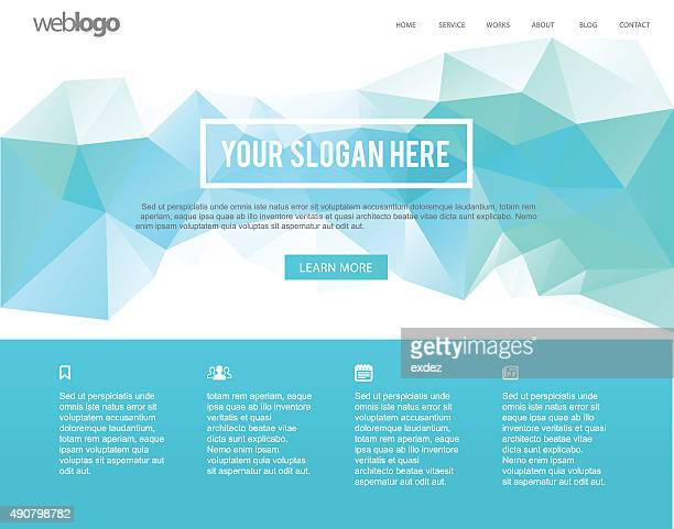 Web page template