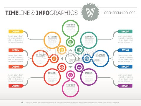 Web Template For Circle Diagram Or Presentation With Icons Vector ...