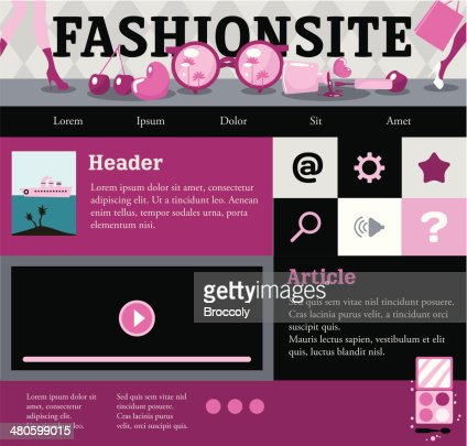 Web template for fashion site. : Vector Art