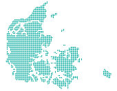 Map of Denmark (dotted version)