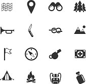 day of scouts vector icons for user interface design