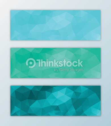 website banner template set abstract triangle polygon background design vector art