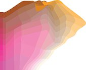 Website header colorful abstract banner. colorful geometry background template. futuristic fantasy form color rock stone