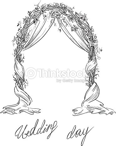 Wedding arch decoration vector sketch design element vector art wedding arch decoration vector sketch design element vector art junglespirit Gallery
