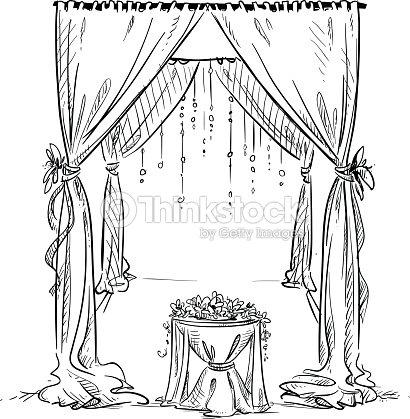 Wedding arch wedding altar decoration vector sketch design element wedding altar decoration vector sketch design element junglespirit Images