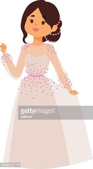 Wedding bride girl character vector : Arte vetorial
