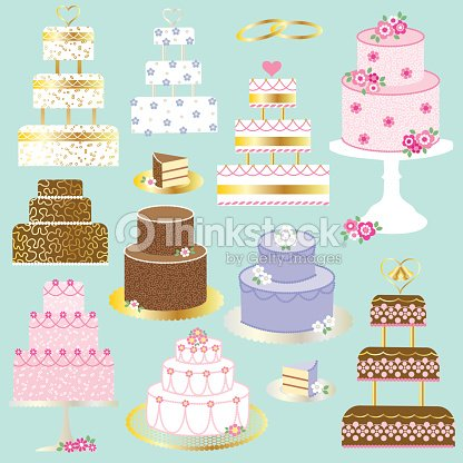 Hochzeitstorte Clipart Vektorgrafik Thinkstock